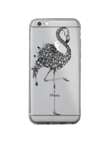 coque iphone 6 plus et 6s plus flamant rose poetique transparente loujah