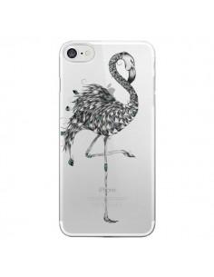 Coque Flamant Rose Poétique Transparente pour iPhone 7 - LouJah
