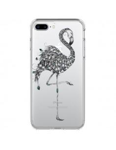 Coque Flamant Rose Poétique Transparente pour iPhone 7 Plus - LouJah