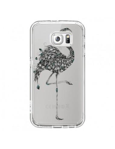 Coque Flamant Rose Poétique Transparente pour Samsung Galaxy S6 - LouJah