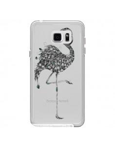 Coque Flamant Rose Poétique Transparente pour Samsung Galaxy Note 5 - LouJah