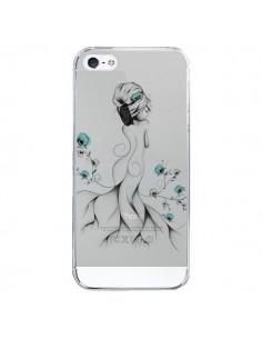 Coque Princesse Fleurs Transparente pour iPhone 5/5S et SE - LouJah