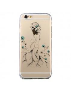 Coque Princesse Fleurs Transparente pour iPhone 6 et 6S - LouJah