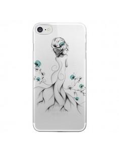 Coque Princesse Fleurs Transparente pour iPhone 7 - LouJah