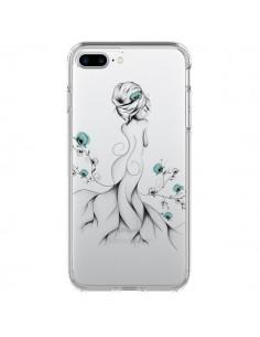 Coque Princesse Fleurs Transparente pour iPhone 7 Plus - LouJah