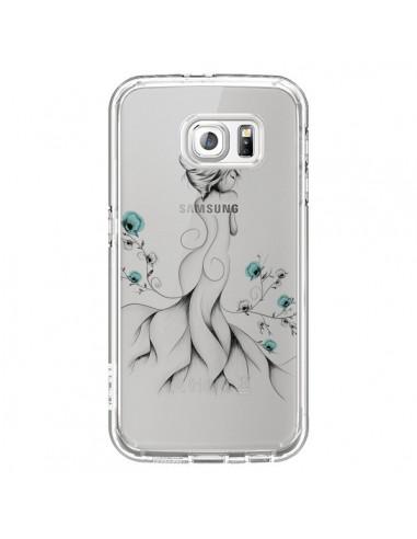 Coque Princesse Fleurs Transparente pour Samsung Galaxy S6 - LouJah