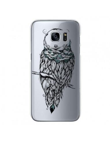 Coque Chouette Hiver Transparente pour Samsung Galaxy S7 - LouJah