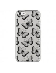 Coque Papillons Transparente Transparente pour iPhone 5C - LouJah