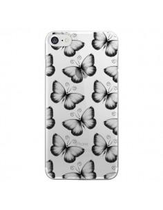 Coque Papillons Transparente Transparente pour iPhone 7 - LouJah