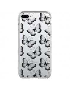 Coque Papillons Transparente Transparente pour iPhone 7 Plus - LouJah