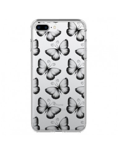 Coque iPhone 7 Plus et 8 Plus Papillons Transparente Transparente - LouJah