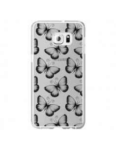 Coque Papillons Transparente Transparente pour Samsung Galaxy S6 Edge Plus - LouJah