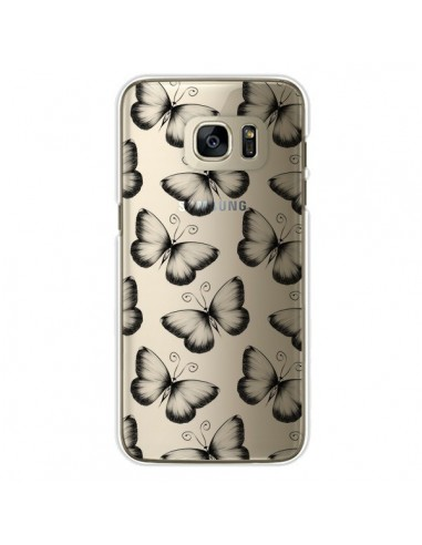 Coque Papillons Transparente Transparente pour Samsung Galaxy S7 Edge - LouJah