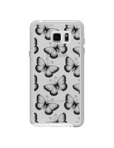 Coque Papillons Transparente Transparente pour Samsung Galaxy Note 5 - LouJah