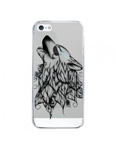 Coque Loup Hurlant Transparente pour iPhone 5/5S et SE - LouJah