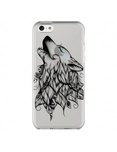 Coque Loup Hurlant Transparente pour iPhone 5C - LouJah