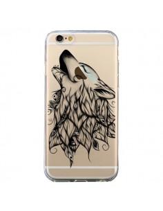 Coque Loup Hurlant Transparente pour iPhone 6 et 6S - LouJah