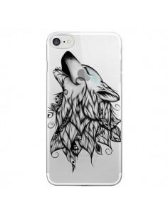 Coque Loup Hurlant Transparente pour iPhone 7 - LouJah