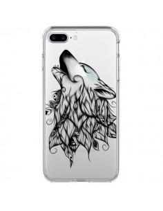 Coque Loup Hurlant Transparente pour iPhone 7 Plus - LouJah