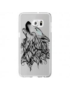 Coque Loup Hurlant Transparente pour Samsung Galaxy S6 Edge Plus - LouJah