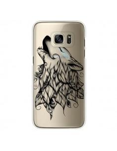 Coque Loup Hurlant Transparente pour Samsung Galaxy S7 Edge - LouJah