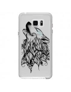 Coque Loup Hurlant Transparente pour Samsung Galaxy Note 5 - LouJah