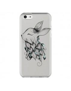 Coque iPhone 5C Lapin Transparente - LouJah