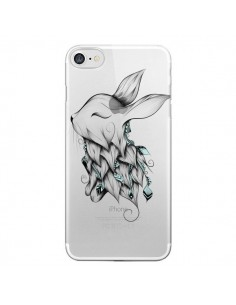 Coque Lapin Transparente pour iPhone 7 - LouJah