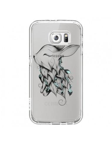 Coque Lapin Transparente pour Samsung Galaxy S6 - LouJah
