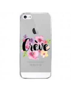 Coque Crève Fleurs Transparente pour iPhone 5/5S et SE - Maryline Cazenave
