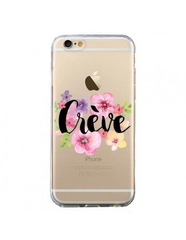 Coque Crève Fleurs Transparente pour iPhone 6 et 6S - Maryline Cazenave