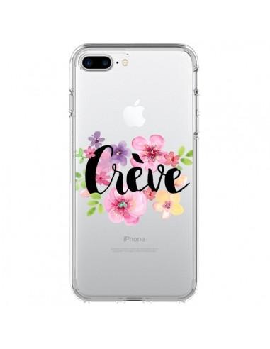 Coque iPhone 7 Plus et 8 Plus Crève Fleurs Transparente - Maryline Cazenave
