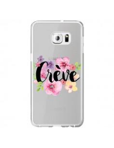 Coque Crève Fleurs Transparente pour Samsung Galaxy S6 Edge Plus - Maryline Cazenave