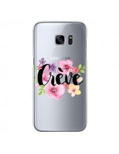 Coque Crève Fleurs Transparente pour Samsung Galaxy S7 - Maryline Cazenave