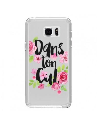 Coque Dans Ton Cul Fleurs Transparente pour Samsung Galaxy Note 5 - Maryline Cazenave