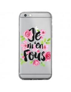 Coque Je M'en Fous Fleurs Transparente pour iPhone 6 Plus et 6S Plus - Maryline Cazenave