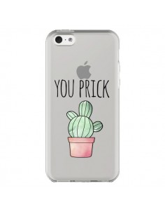 Coque iPhone 5C You Prick Cactus Transparente - Maryline Cazenave