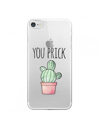 Coque iPhone 7 et 8 You Prick Cactus Transparente - Maryline Cazenave