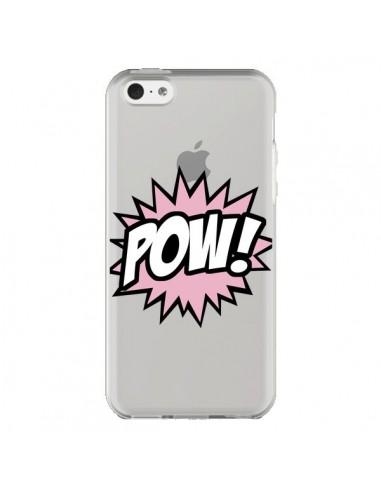 Coque iPhone 5C Pow Transparente - Maryline Cazenave