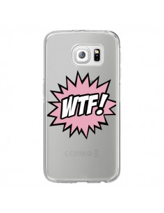 Coque WTF What The Fuck Transparente pour Samsung Galaxy S6 Edge - Maryline Cazenave