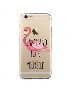 Coque Flamingo Fuck Transparente pour iPhone 6 et 6S - Maryline Cazenave