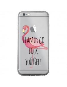 Coque iPhone 6 Plus et 6S Plus Flamingo Fuck Transparente - Maryline Cazenave