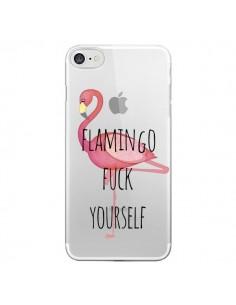 Coque Flamingo Fuck Transparente pour iPhone 7 - Maryline Cazenave