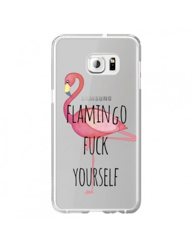 Coque Flamingo Fuck Transparente pour Samsung Galaxy S6 Edge Plus - Maryline Cazenave