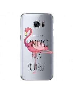 Coque Flamingo Fuck Transparente pour Samsung Galaxy S7 - Maryline Cazenave