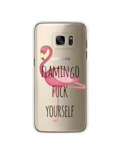 Coque Flamingo Fuck Transparente pour Samsung Galaxy S7 Edge - Maryline Cazenave