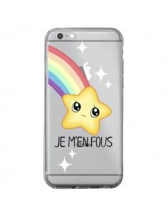 Coque iPhone 6 Plus et 6S Plus Etoile Je M'en Fous Transparente - Maryline Cazenave