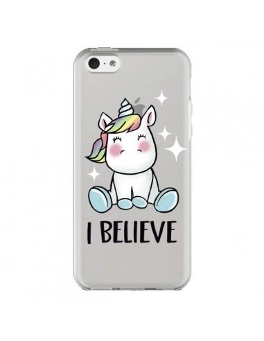 Coque iPhone 5C Licorne I Believe...