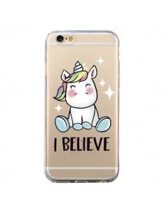 Coque Licorne I Believe Transparente pour iPhone 6 et 6S - Maryline Cazenave