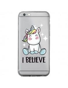 Coque Licorne I Believe Transparente pour iPhone 6 Plus et 6S Plus - Maryline Cazenave